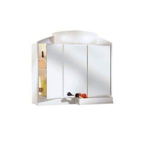 Armario de baño con espejo y luz 3 puertas