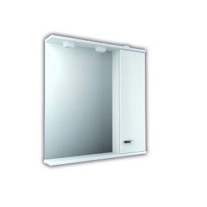 Armario de baño con espejo y luz madera