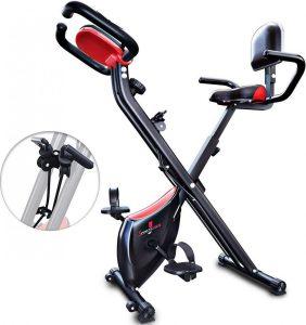 Bicicleta estática plegable con sistema inteligente