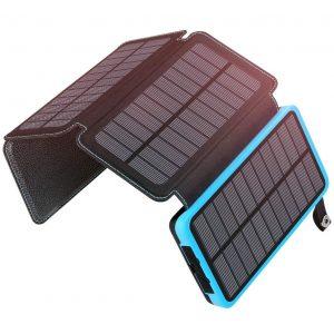 Cargador solar para móviles cuatro paneles