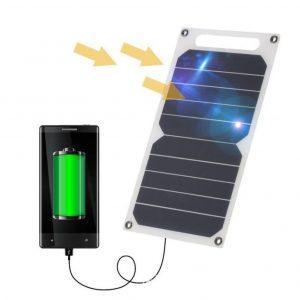 Cargador solar para móviles de emergencia