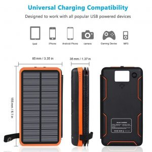 Cargador solar para móviles plegable