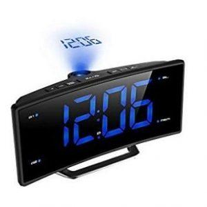 Despertador con proyector con pantalla led
