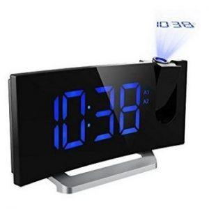 Despertador con proyector con radio Mpow