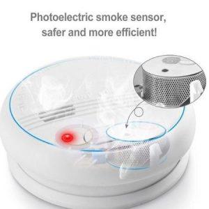 Detector de gas y alarma de incendios