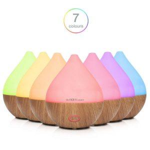 Difusor de Aromas para Aceites Esenciales con luces LED