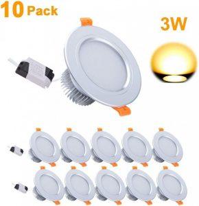 Focos LED empotrables de techo de alta iluminación