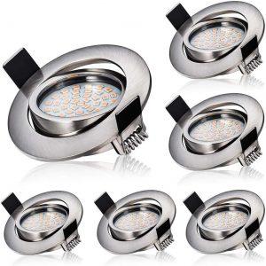 Focos LED empotrables de techo para el baño