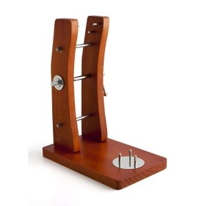 Jamonero vertical con soporte de madera