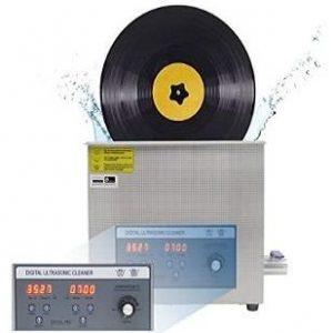 Máquina para limpiar discos de vinilo con temporizador