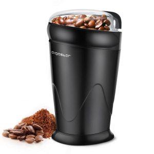 Molinillo de café eléctrico transparente