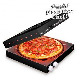 Pizzera eléctrica con forma de caja