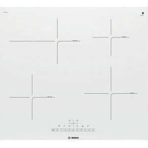 Placa de inducción blanca con desconexión