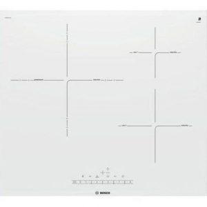 Placa de inducción blanca con sensor