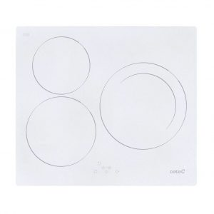 Placa de inducción blanca y elegante