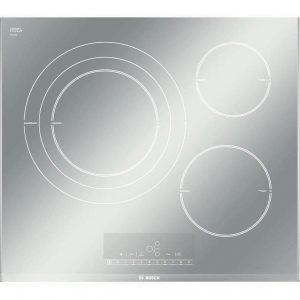 Placa de inducción blanca y metalizada