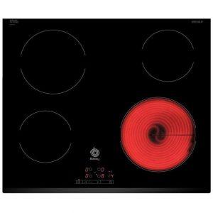 Placa vitrocerámica con 4 zonas de cocción de Balay