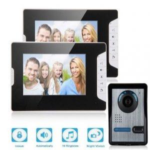 Videoportero inalámbrico sin cables con dos monitores